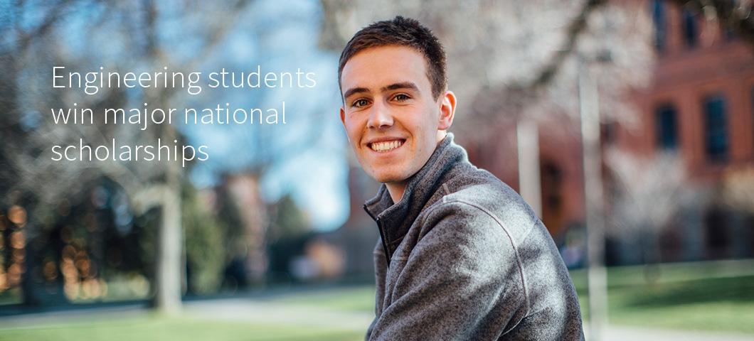 Engineering Students win major national scholarships