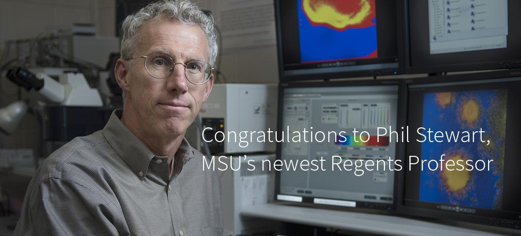 Congratulations to Phil Stewart, MSU's newest Regents Professor