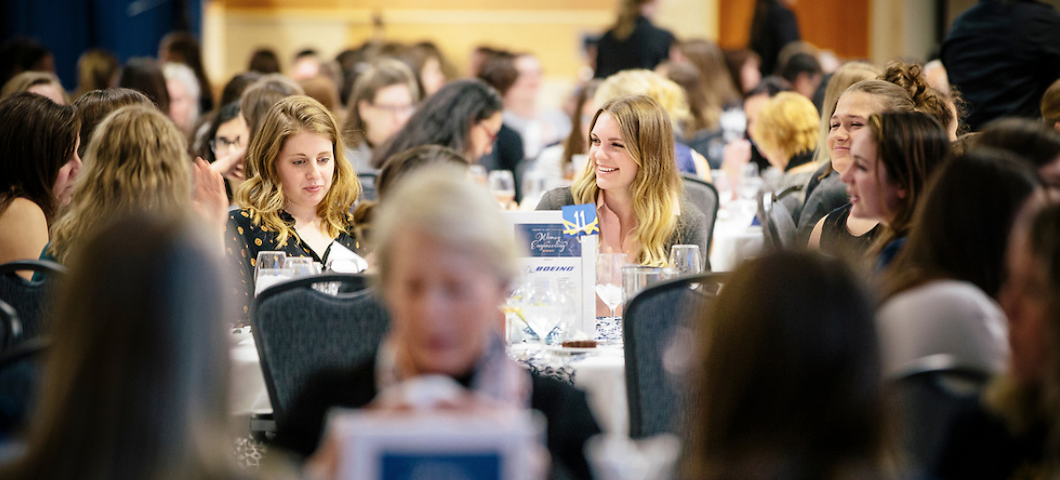 The annual Women in Engineering dinner brings together hundreds of students, faculty and alumni.