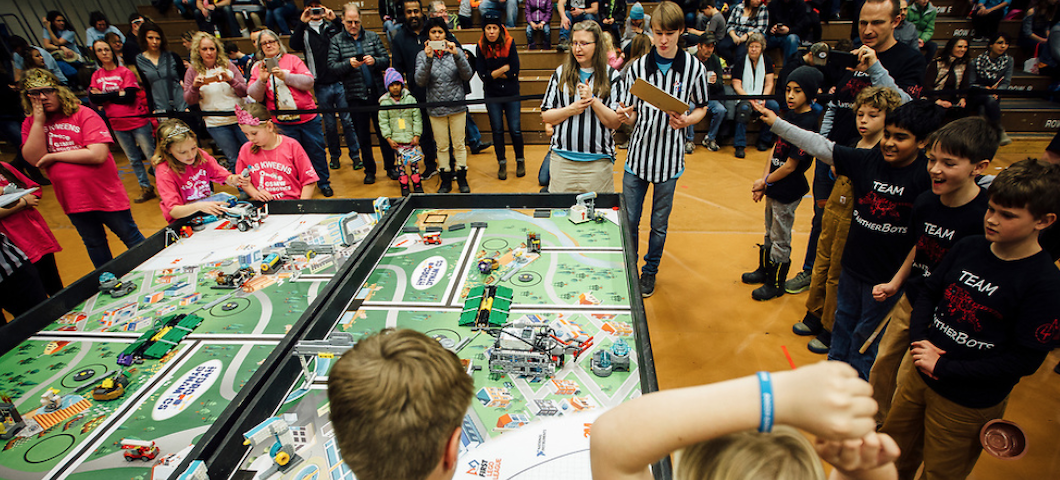 The annual FIRST robotics events challenge Montana youth and provide a bridge to MSU engineering.