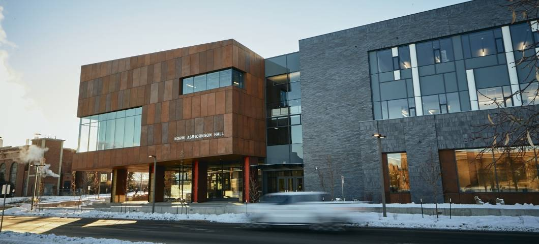 Norm Asbjornson Hall in winter