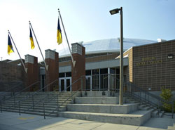 Brick Breeden Fieldhouse north entrance