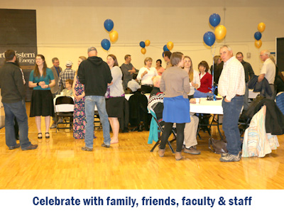 Celebrate with family, friends, faculty and staff