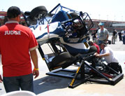 MSU SAE team's car being judged in Fontana, California