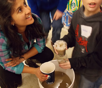 students learn about different ways to filter water