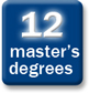 12 master's degrees