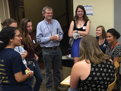 Women in Engineering welcome event with MSU students and faculty